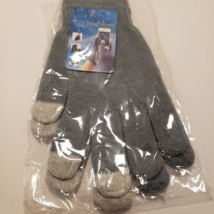 Accessories - Gloves Touch Grey and Blue